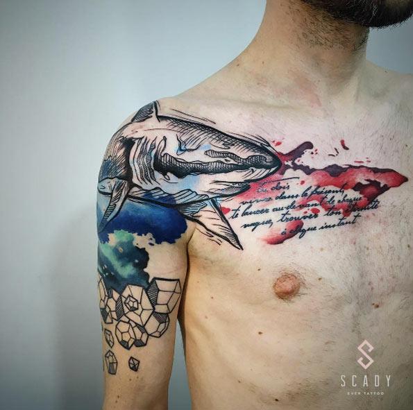 Tatuagem de tubarão