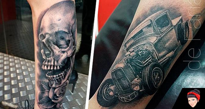 10 Tatuagens em Preto e Cinza do artista Doug de Farias