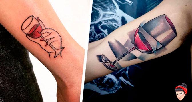 10 Tatuagens de boa safra para amantes do vinho