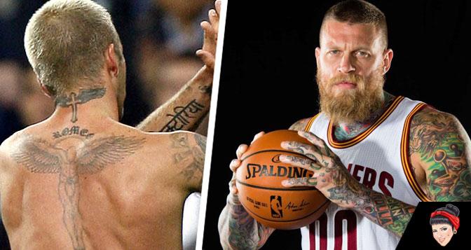 As tatuagens dos maiores atletas do mundo.